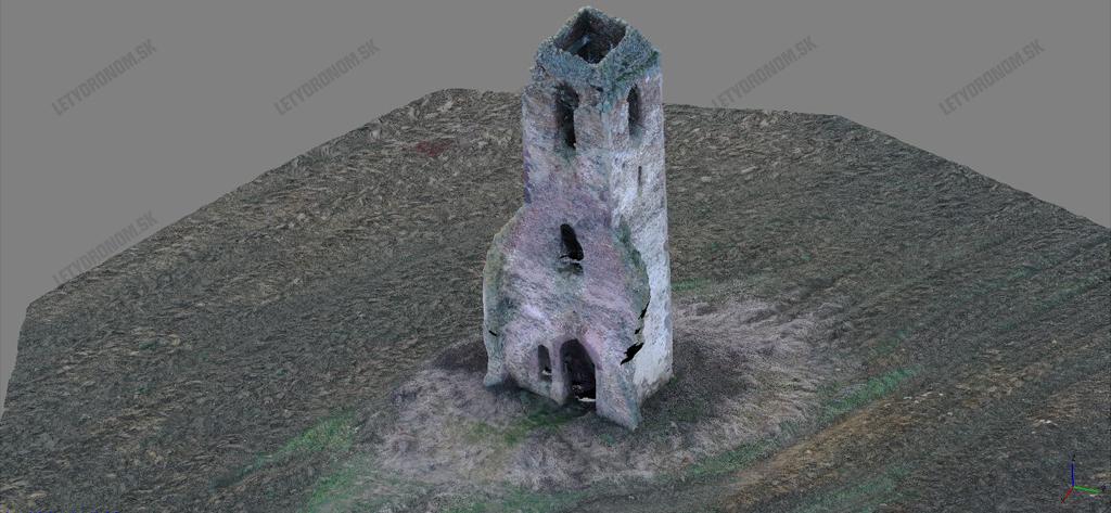 3D model z dronu
